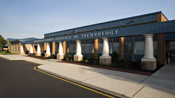 Picture - The entrance to Burlington County Institute of Technology (BCIT)